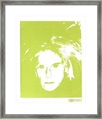 Me And Andy Framed Print by Monica Warhol