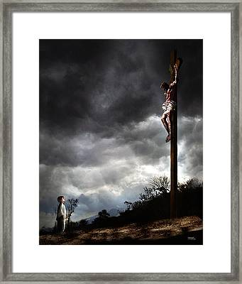 Me And Jesus Framed Print by Mark Spears