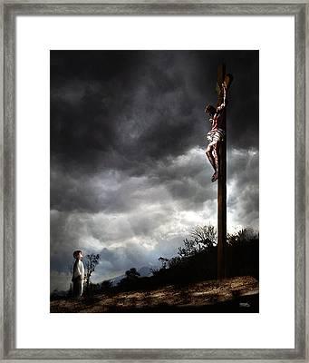 Me And Jesus Framed Print