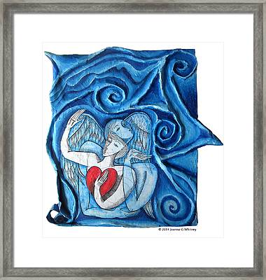 Me And My Angel Framed Print