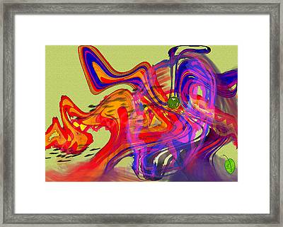 Me And My Bad Attitude Framed Print by Mathilde Vhargon