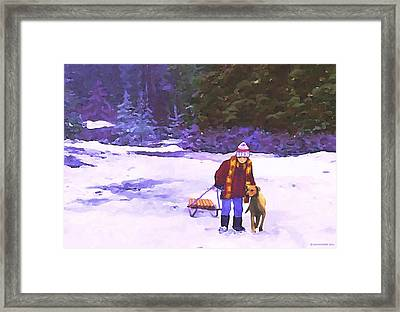 Me And My Buddy Framed Print by Sophia Schmierer