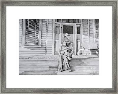 Me And My Grandad Framed Print