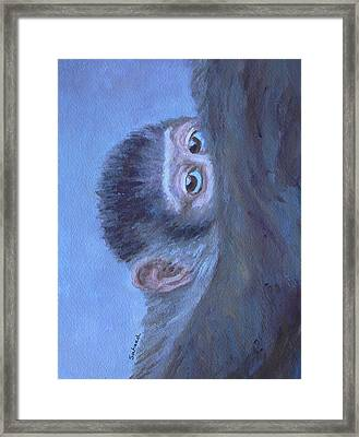 Me And My Mandrill Mother Framed Print by Margaret Saheed