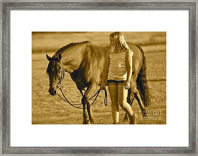 Framed Print featuring the photograph Me And My Pony by Barbara Dudley