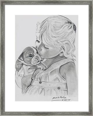Me And My Puppy Framed Print by Barb Baker