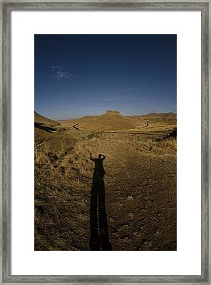 Me And My Shadow Framed Print by Aaron Bedell