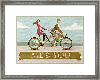 Me And You Bike Framed Print by Andy Scullion