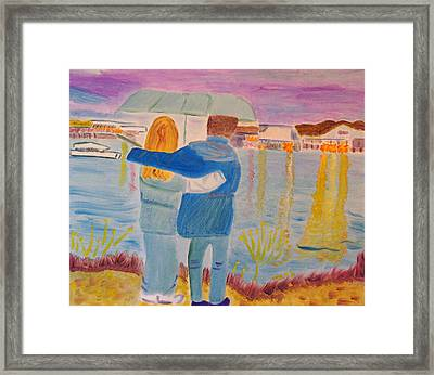 Framed Print featuring the painting Me And You by Meryl Goudey