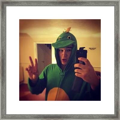 Me As A Dinosaur! #me #dinosaur #pjs Framed Print