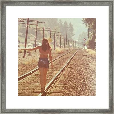 Me Back In The 70s When Livin' Was Framed Print