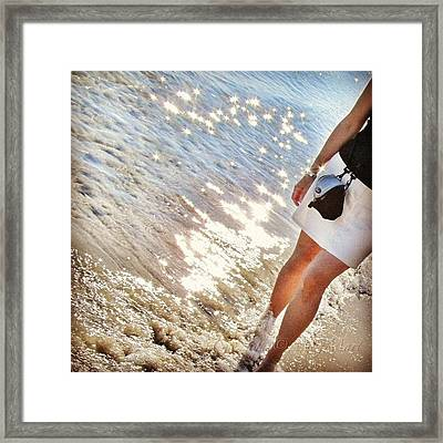 Me On The Beach In Alicante/spain Framed Print