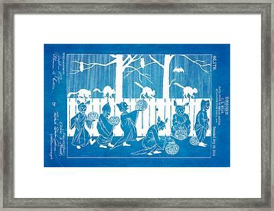 Mead Halloween Sheet Patent Art 1914 Blueprint Framed Print by Ian Monk