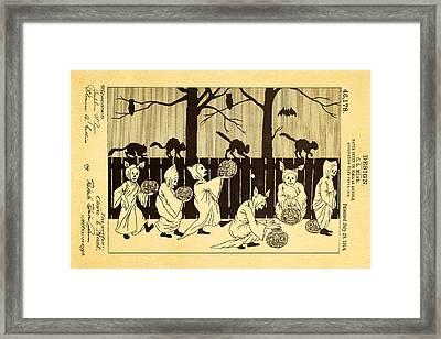Mead Halloween Sheet Patent Art 1914 Framed Print by Ian Monk