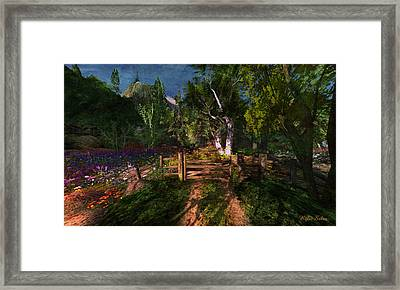 Meadow Gate Framed Print by Kylie Sabra