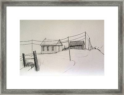 Meadow View School Framed Print by Kathleen Barlament