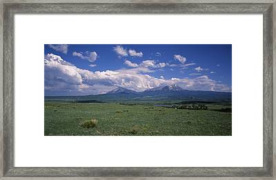 Meadow With Mountains Framed Print by Panoramic Images