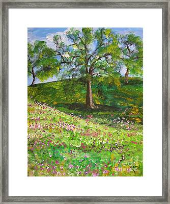 Meadowland    Painting Framed Print by Judy Via-Wolff
