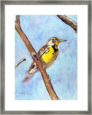 Meadowlark Sunrise Framed Print