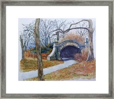 Meadowport Arch Prospect Park Framed Print