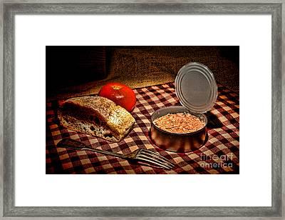 Meager Lunch Framed Print