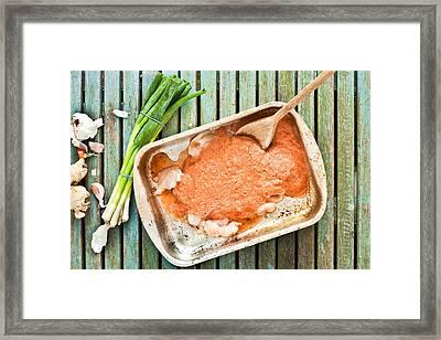 Meal Preparation Framed Print by Tom Gowanlock