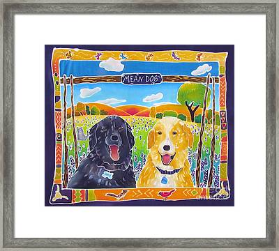 Mean Dogs Framed Print by Harriet Peck Taylor
