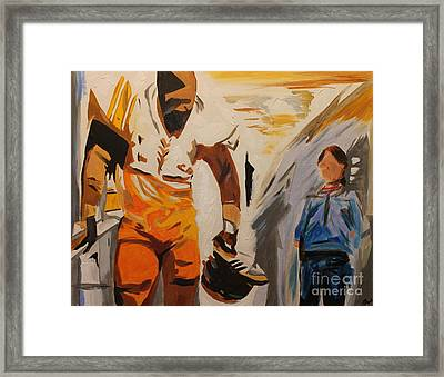 Mean Joe Greene Framed Print