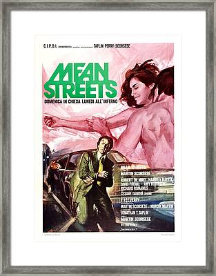 Mean Streets, Italian Poster, Top Framed Print by Everett