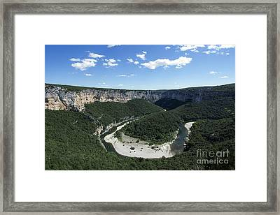 Meander. Gorges De L'ardeche. France Framed Print