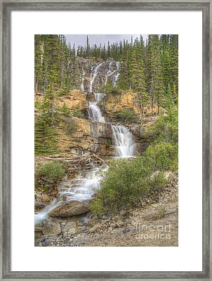 Meandering Waterfall Framed Print