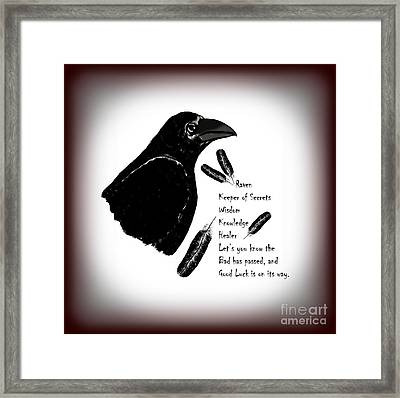 Meaning Of Raven Framed Print by Eva Thomas