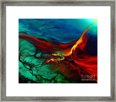 Meaningful Art-flying Above Modern Abstract Colorful Art By Kredart  Framed Print