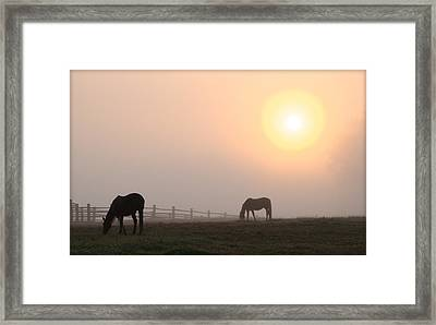 Meanwhile Back At The Ranch Framed Print by Bill Cannon