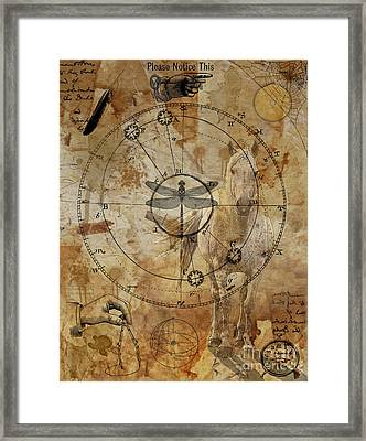 Measure Of The World Framed Print by Judy Wood