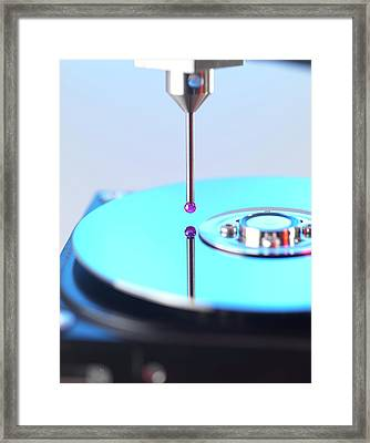 Measurement Probe Framed Print by Tek Image