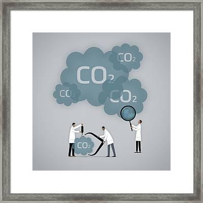 Measuring Carbon Footprint Framed Print