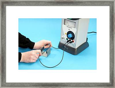 Measuring Induced Electromotive Force Framed Print by Trevor Clifford Photography