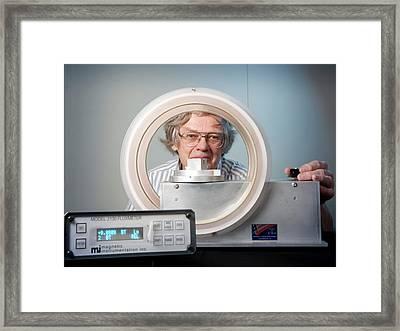 Measuring Magnetic Remanence Framed Print by Nasa