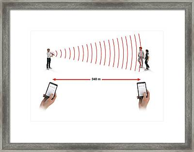 Measuring Speed Of Sound Framed Print by Mikkel Juul Jensen