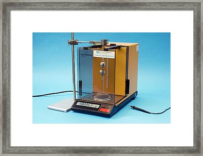 Measuring The Force Between Two Charges Framed Print