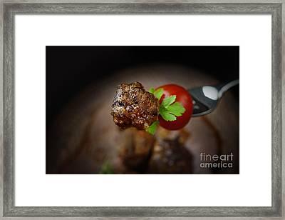 Meat Balls Framed Print by Mythja  Photography