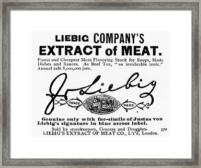 Meat Extract Ad, 1889 Framed Print by Granger