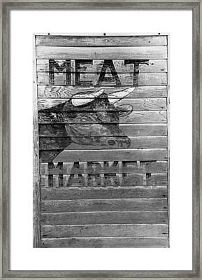 Meat Market, 1938 Framed Print by Granger