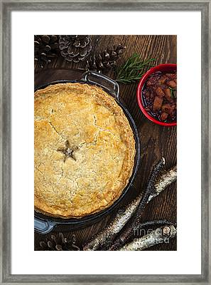 Meat Pie Tourtiere Framed Print by Elena Elisseeva