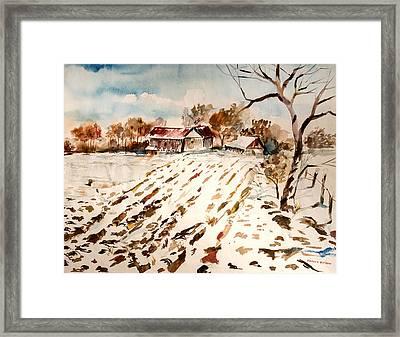 Mebane Farms Framed Print by Harold Ellison