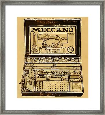 Meccano Steampunk Engineering Framed Print by Del Gaizo