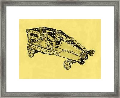 Meccano Steampunk Motorcar Coupe Framed Print