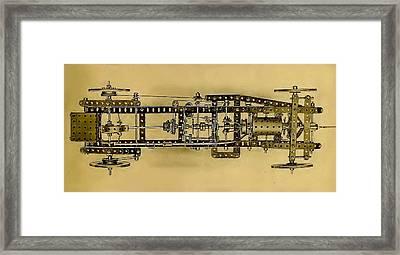 Meccano Steampunk Motorcar Framed Print
