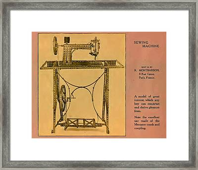 Meccano Steampunk Sewing Machine Which Any Boy Can Construct  Framed Print